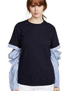 Open Sleeve Stripped Sweatshirt, Clu, $288 @Shopbop